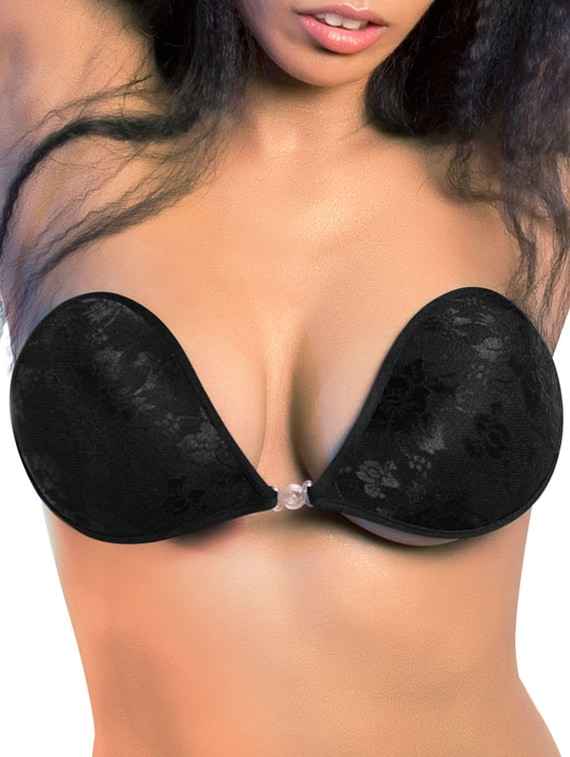 a26d7cfb1c Buy Black Colored Breathable Stick-on Bra by Blush Hearts - Online shopping  for Bra in India