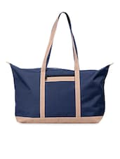 Navy Blue Oversized PU Tote Bag - Walletsnbags