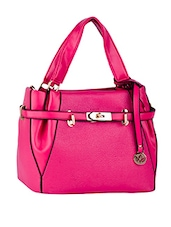 Front Strap Comfortable Handle Leatherette Handbag - Mod'acc