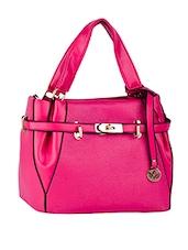 Front Strap Comfortable Handle Leatherette Handbag - Mod'acc