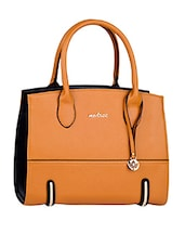 Leatherette Plain Solid Handbag - Mod'acc