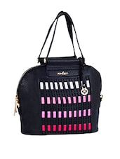 Multi Colour Blocks Leatherette Handbag - Mod'acc
