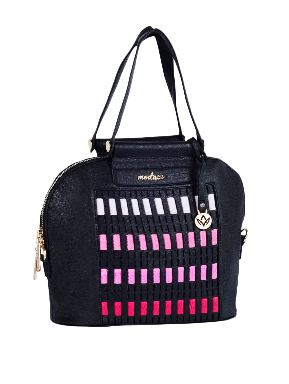 Multi Colour Blocks Leatherette Handbag - Mod'acc