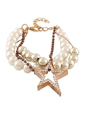 Star Charms Pearl Beaded Bracelet - Krafftwork