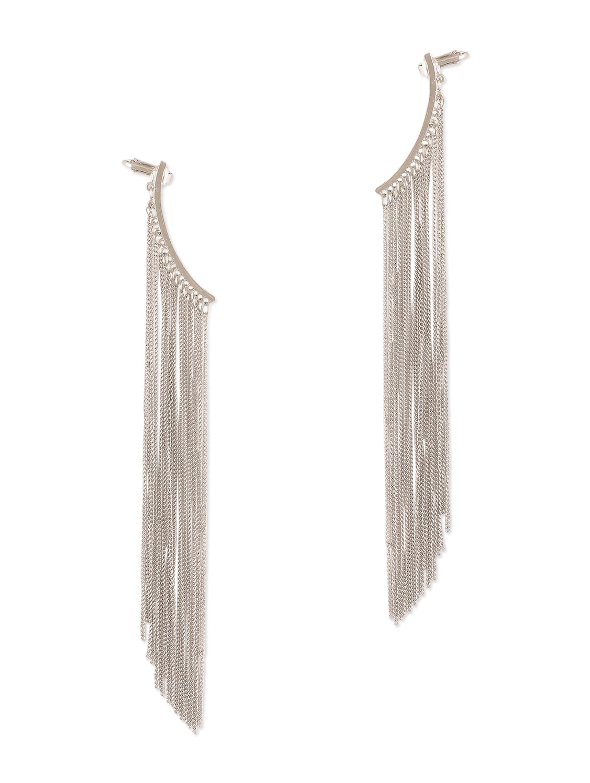 Online Silver Hanging Chain Earrings