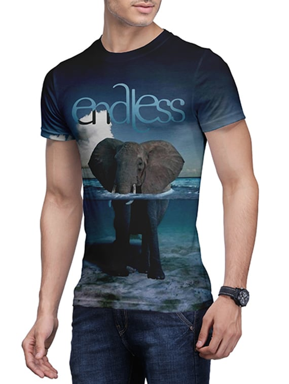 29c00de69 Buy Multi Colored Front Print Graphic T-shirt for Men from Wear Your Mind  for ₹713 at 35% off   2019 Limeroad.com