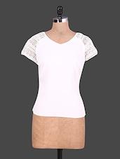 Lace Sleeves White Top - URBAN RELIGION