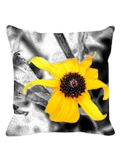 Yellow Sunflower Cushion Cover - Leaf Designs