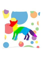 Multicolored Polka Dots  Cat Cushion Cover - Leaf Designs