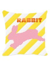 Multicolored Rabbit Striped Cushion Cover - Leaf Designs