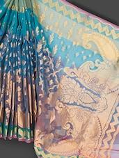 Multicolored Kora Art Silk & Zari Saree - Prabha Creations