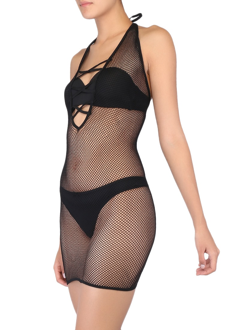 83315f3969 Buy Black Halter Neck Bodystocking by Kaamastra - Online shopping for  Shapewear in India