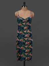 Floral Printed Camisole Neck Bodycon Dress - NUN