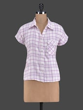 Short Sleeve Check Front Pocket Shirt - Golden Couture