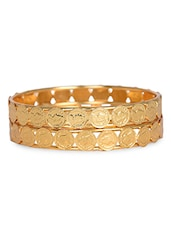Golden Coin Attached Bangle Set - THE PARI