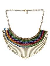 Multicolor Thread Designed Neckpiece - THE PARI