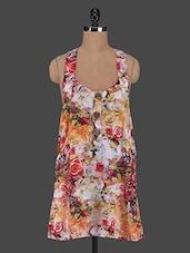 Sleeveless Floral Print Dress - Mansa