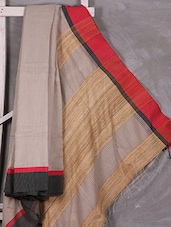 Hand Woven Bengal Cotton Saree With Geecha Anchal - Attire Zone