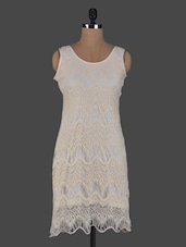 Round Neck Sleeveless Lace Dress - Meee!