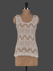 Round Neck Sleeveless Lace Top - Meee!