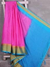 Handwoven Contrast Anchal Manipuri Kota Saree - Komal Sarees