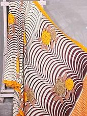 Yellow Floral Printed Silk Saree - Komal Sarees