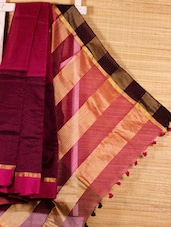 Pink Cotton Silk Handloom Saree - Dharitri's Choice