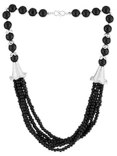 Black Beaded Layered Necklace - Voylla