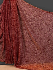 Floral Print Sheer Art Silk Saree - Nanda Silk Mills