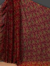 Green Rose Printed Art Silk Saree - Nanda Silk Mills