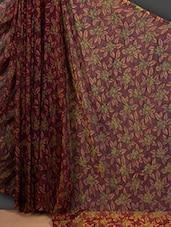 Sheer Rose Printed Art Silk Saree - Nanda Silk Mills