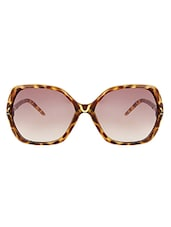 Zyaden Brown Rectangle Women Sunglasses - By