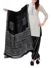 Floral Printed  Cotton Salwar Suit Dress Material - Pinkshink