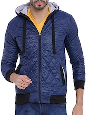 navy blue nylon casual jacket -  online shopping for Casual Jacket