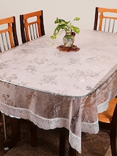 white plastic 8 seater table cloth -  online shopping for Table Cloths