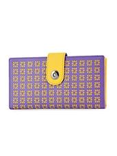Cut Work Leatherette Wallet - BUTTERFLIES - 1122576