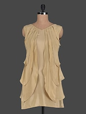 Sleeveless Layard Front Panel Viscose Dress - Glam And Luxe