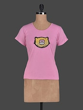 Quirky Cat Casual Cotton Knit Top - Glam And Luxe