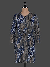 Long Sleeves Animal Printed Viscose Dress - Glam And Luxe