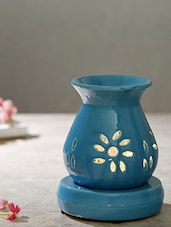 Blue Ceramic Electric Aroma Oil Burner - By