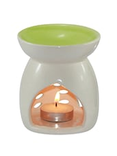 Ivory And Light Green Aroma Oil Diffuser - Brahmz