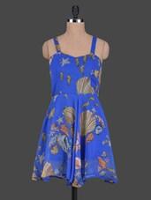 Printed Sleeveless Georgette Dress - ABITI BELLA