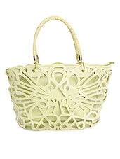 Light Green Laser Cut Handbag Cum Sling - TAKSPIN