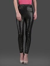74cb8358dec6db Printed polyknit spandex black leggings - online shopping for Leggings. 25%  off