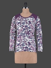 Floral Printed Round Neck Cotton Top - Aussehen