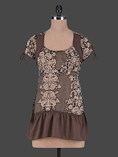 Printed Short Sleeves Chiffon Top - Aussehen