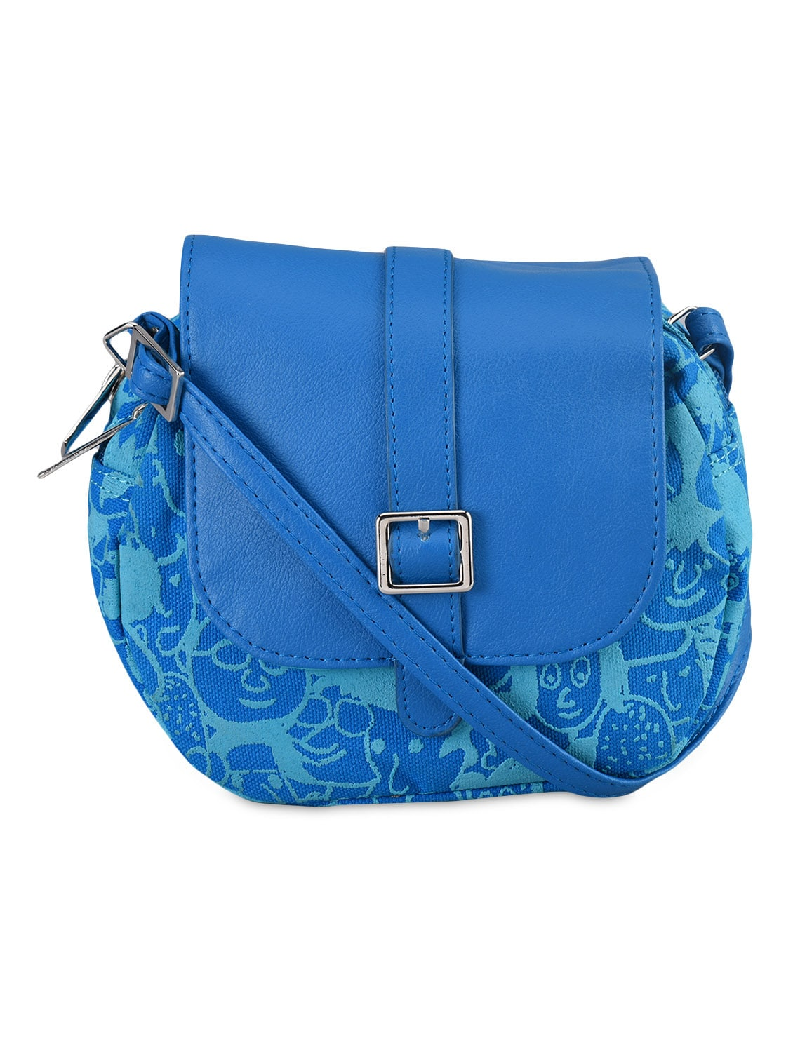 Printed Leatherette Sling Bag - Baggit
