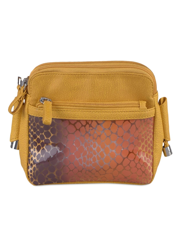 Animal Printed Leatherette Sling Bag - Baggit