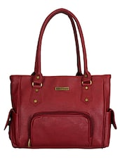 red polyester handbag -  online shopping for handbags