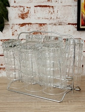 Stainless Steel Glass Stand Set Of 6 - Disha